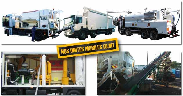 Les unités mobiles TRANSMANUT